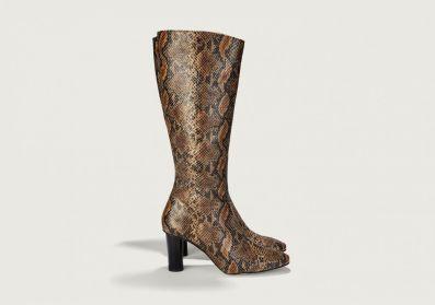 Finery London Snakeskin Tall Boots