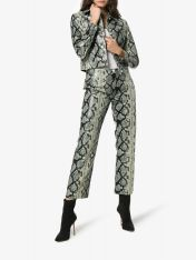 Miaou Cropped Jacket and Pants Snakeskin