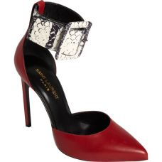 St. Laurent Snakeskin Heels