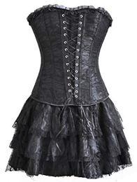Steampunk gothic corset dress