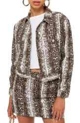 Topshop Snakeskin Jacket and Skirt