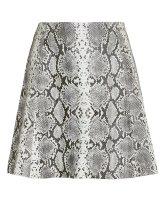 Veda Leather Snakeskin Print Mini Skirt $498