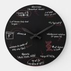 Zazzle all_about_science_geek_math_wall_clock_home_decor