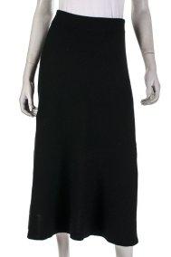Chloé A-line cashmere midi skirt
