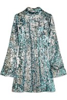 Halpern sequin turtleneck mini dress $2200 Net-A-Porter itself