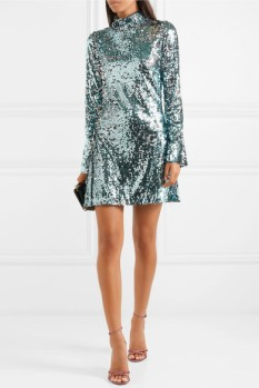 Halpern sequin turtleneck mini dress $2200 Net-A-Porter