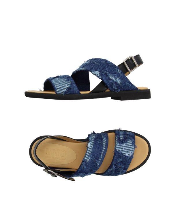 MM6 by Maison Margiela blue sequin sandals