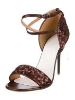 Margiela Brown Sequin Sandal