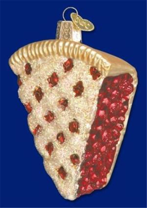 Old World Christmas Blown Glass Ornament Cherry Pie