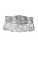 Oscar de la Renta Sequinned Belt Silver $2490