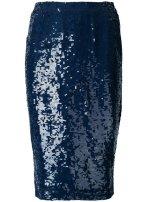 P.A.R.O.S.H. sequin skirt $673 blue
