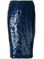 P.A.R.O.S.H. sequin skirt $673 blue