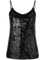 P.A.R.O.S.H. sequin top $603 black