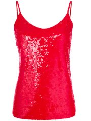 P.A.R.O.S.H. sequin top red