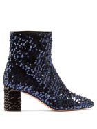 Rochas Sequined blue boots