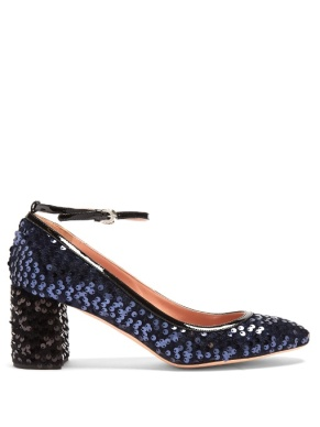 Rochas Sequined blue mary janes
