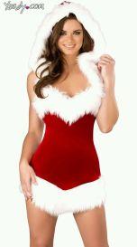 Santa Baby Hooded Romper lingerie skirt Board
