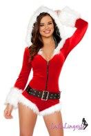 Santa Baby Hooded Romper lingerie