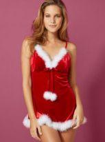 Santa Baby chemise --lingerie-dress-lingerie-babydoll