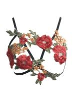 Sunaai Flower Applique Cage Bralette 2
