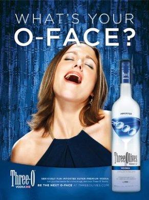 orgasm face advert