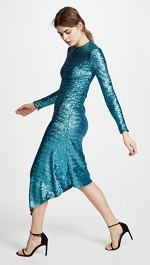 preen-by-thornton-bregazzi-Teal-Clarissa-Sequin-Dress side