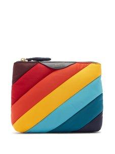 anya hindmarch rainbow striped pouch nylon 195 bpd matches