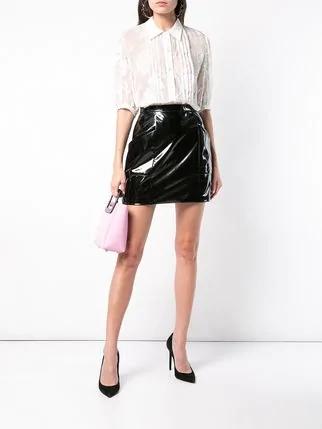 fleur-du-mal-pvc-black mini skirt