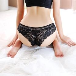 lace black tanga