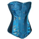 Noble Blue Floral Corset