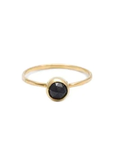 Melissa Joy Manning Rosecut Black Diamond 14K Ring