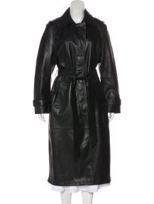 Elizabeth Sulcer x Miss Sixty Leather Trench