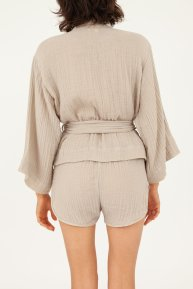 Hamabla wrap top and shorts made in LA sand