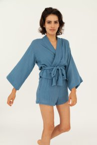 Hamabla wrap top and shorts made in LA