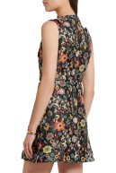 Red Valentino floral jacquard dress back