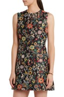 Red Valentino floral jacquard dress model