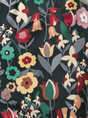 Red Valentino floral jacquard fabric