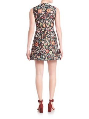 RED-Valentino-Women-s-Floral-Jacquard-Dress-