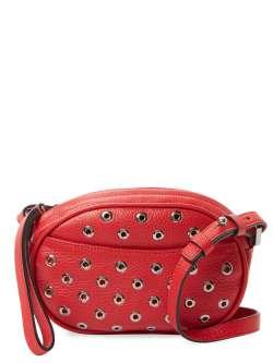 RED Valentino wristlet shoulder bag grommets red $775