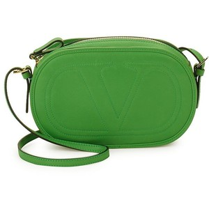 VALENTINO GARAVANI Leather Shoulder Bag green