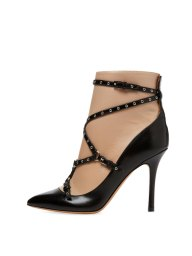 Valentino Garavani love latch leather bootie $1445 Gilt $799 side
