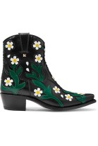Valentino Garavani Ranch appliquéd leather ankle boots $1675