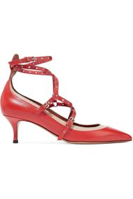 Valentino Love Latch Embellished Two toned heels