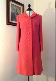 1960s Pink Coat vintage retro