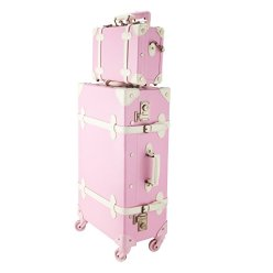 CO-Z Premium Vintage Luggage Sets retro pink