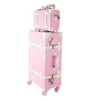 CO-Z Premium Vintage Luggage Sets retro pink