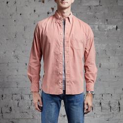 Gitman Vintage Corduroy Long Sleeve Pink retro