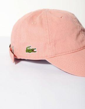 LACOSTE vintage pink baseball cap retro