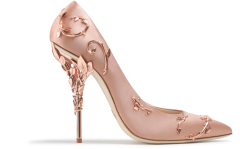Ralph Russo eden pumps vintage pink with rose gold leaves