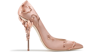 Ralph Russo eden pumps vintage pink with rose gold leaves